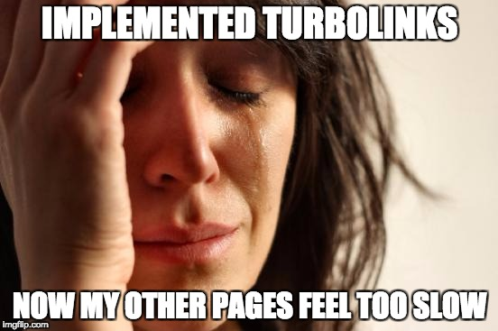 Turbolinks implementation problems