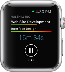 Pausing a timer on the Apple Watch