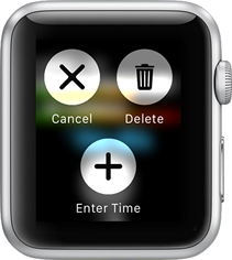 Creating a new time entry on the Apple Watch