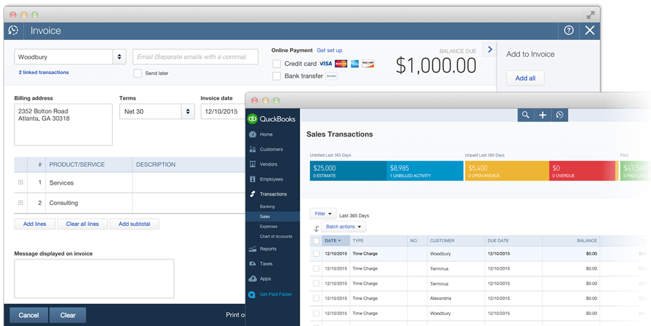 QuickBooks Online Time Tracking Integration From Tick - Quickbooks electronic invoicing