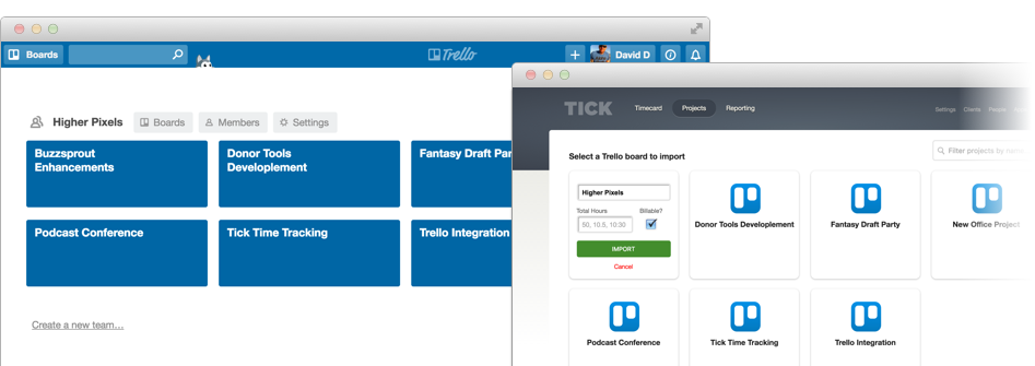 Trello and Tick